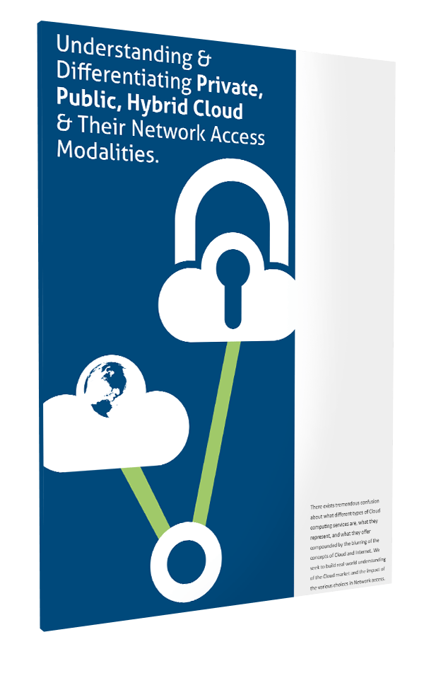 Understanding & Differentiating Private, Public, Hybrid Cloud & Their Network Access Modalities.